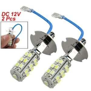Car H3 25 SMD LED White Headlight Fog Light Lamp Bulbs Automotive