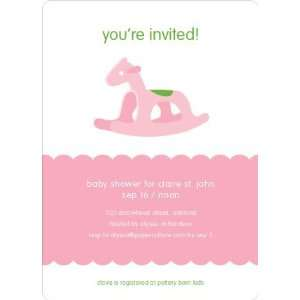 : Pink Rocking Horse Baby Shower Invitations: Health & Personal Care