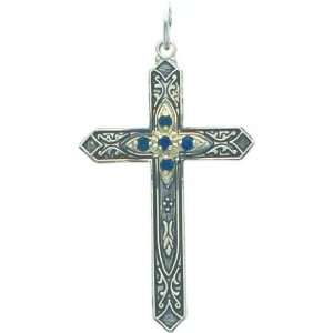 Sterling Silver Glass September Birthstone Charm Jewelry