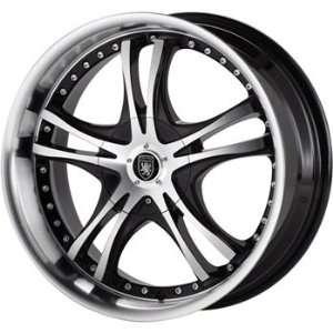 Von Max VM1 16x7 Machined Black Wheel / Rim 4x100 & 4x4.5 with a 40mm