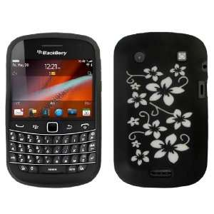 Blackberry Bold Touch Floral Silicone Case Cover Black And White Fo