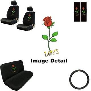 Studded Rhinestone Car Truck Seat Covers Mats Bench 8 Piece Combo Kit
