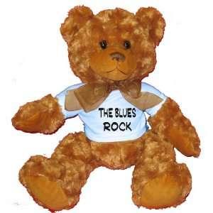 The Blues Rock Plush Teddy Bear with BLUE T Shirt Toys
