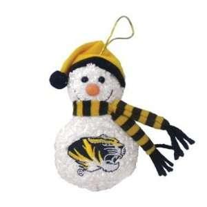 Missouri Tigers MIZZOU MU NCAA Plush Snowman Ornament