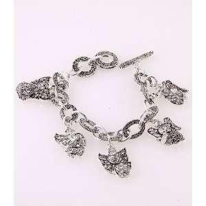 Fashion Jewelry Charm Bracelet with Angel Pattern Silver