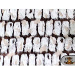 Faux / Fake Fur LONG PILE BRICKS FUR DARK BROWN GREY By