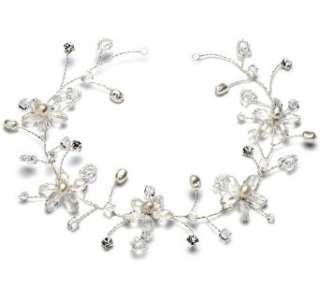 Bridal Hair Comb, Pearl Vine Wedding Headband 393