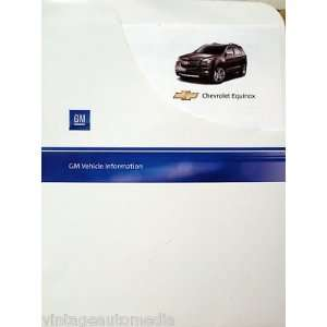 2010 Chevrolet Equinox 1LT Vehicle Information Packet