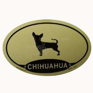 Euro Style Oval Dog Decal Chihuahua  Pet Supplies