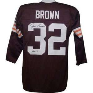 Jim Brown Signed Cleveland Browns Jersey   HOF 71 Sports