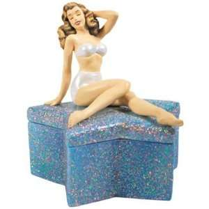 CRYSTAL STAR MARILYN TRINKET BOX