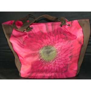 Daisy Canvas oe Bag Purse Shoulder Overnigh NEW