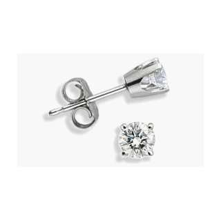 0.50 TCW White Gold Diamond Stud Earrings Jewelry