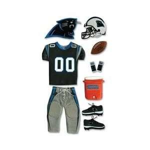 NFL TEAM UNIFORM 3 D Stickers CAROLINA PANTHERS   DISCONTINUED