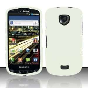 EMPIRE White Rubberized Hard Cover Case for Samsung Droid
