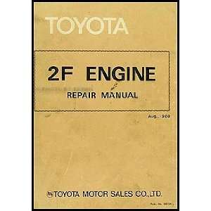 1982 1983 Toyota Land Cruiser Engine Repair Shop Manual Toyota Books
