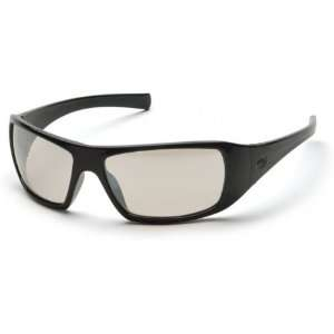 Pyramex Goliath Safety Glasses   Black Frame and Indoor Outdoor Mirror