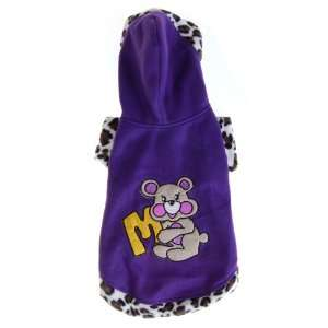 Pet Dog Apparel Clothes Hoodie Coat Size 5   Purple