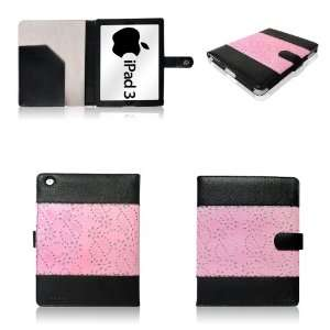 RHINESTONE AND PINK Folio Case and Cover for NEW IPAD 3 Tablet