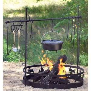 Guide Gear Campfire Ring Black Patio, Lawn & Garden