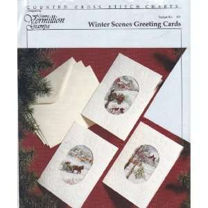 Winter Scenes Greeting Cards [Cross Stitch Charts