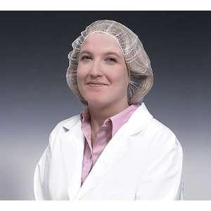 Nylon hair net, 18, white, 100/bg Industrial