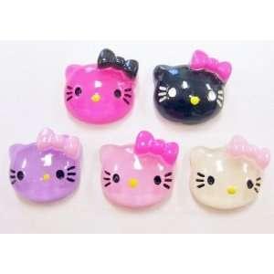 20pc Glitter Kitty Cat Flat Back Resins Cabochons fa38