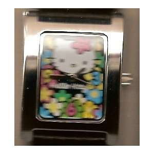 Floral Hello Kitty Wrist Watch with Black Band Office