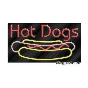 Hot Dogs Neon Sign #406, Background MaterialClear