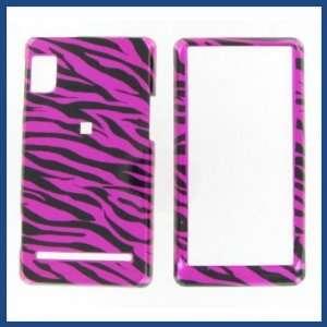 Droid 2 Zebra on Hot Pink Hot Pink/Black Protective Case Electronics