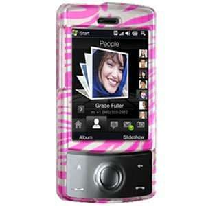 Hot Pink/Silver Zebra) for Sprint HTC Touch Diamond (Hot Pink) Cell