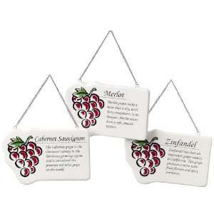 Red Grape Plaque Christmas Ornaments (set of 3) Sports