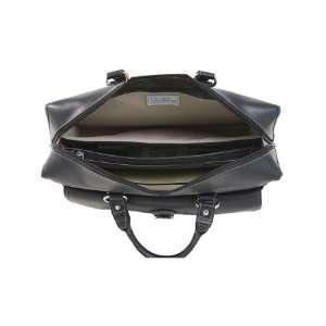 GIOVANI Black Leather Laptop Case Electronics