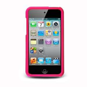iPod Touch 4 Rubberized Hard Case   Rose Pink Cell Phones