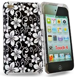 Palace   black / white flower hard case cover design for ipod touch 4