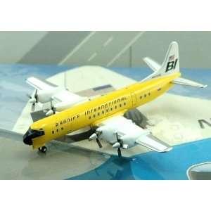 Jet X Braniff Intl L 188 Electra Yellow Model Airplane