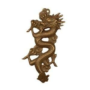 Asian Brass Dragon Wall Mount Single Key Hook: Home & Kitchen