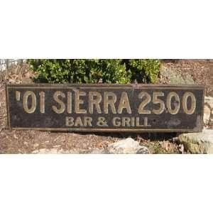 2001 01 GMC SIERRA 2500 BAR & GRILL   Rustic Hand Painted