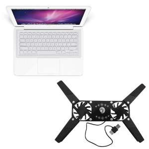 Cooler Pad with 2 Fan + Clear Silicone Skin Keyboard Cover for Laptop