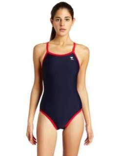 TYR Sport Womens Reversible Solid Diamondback Swim Suit