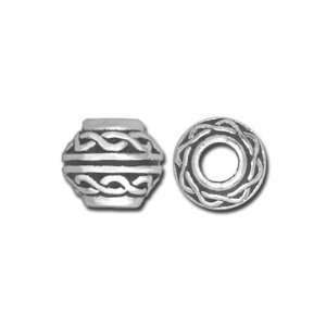 Silver Celtic Large Hole Bead by TierraCast Arts, Crafts & Sewing