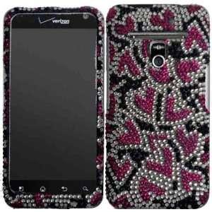 Nightly Hearts Full Diamond Bling Case Cover for LG Esteem