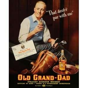 1937 Ad Old Grand Dad Bourbon Whiskey Liquor Alcohol