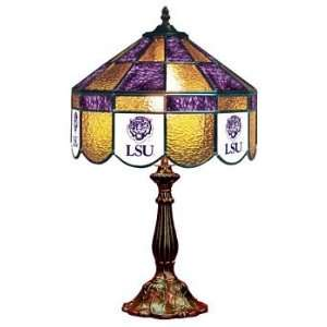 LSU 14 NCAA Stained Glass Executive Table Lamp   140XTL LSU