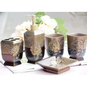 Luxury Bathroom Accessory Set Tumblers, soap Dish, liquid Soap
