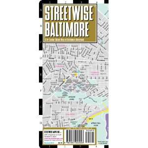 Streetwise Baltimore Map   Laminated City Center Street Map