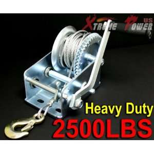 Heavy Duty 2500LB Boat Hand Winch: Patio, Lawn & Garden