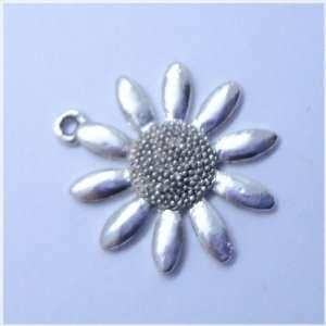 Tibetan silver Sunflower Flower Charm Pendant Beads Findings 5Pcs