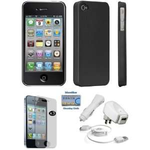 Black Polycarbonate Slim Snap on Case, 3 in 1 Charging Kit (Home