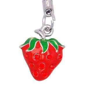 Cell / Mobile Phone / Camera Charm Strap (Red Strawberry